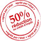 50% de réduction ou crédit d'impôt